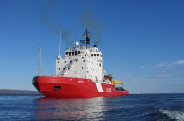 Coast guard ship in Frobisher Bay