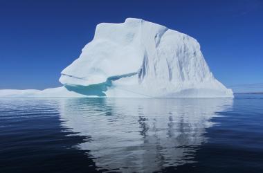 large iceberg down Frobisher Bay